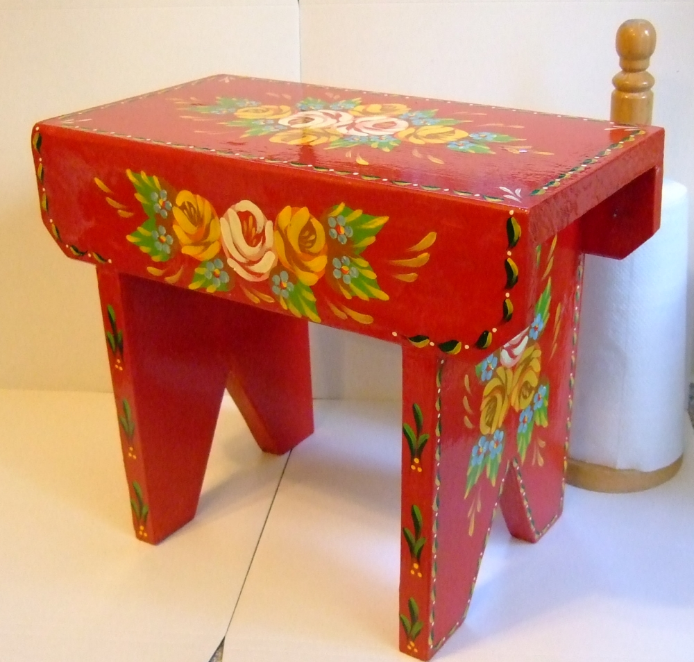 "Cabin ""Cracket"" Stool in Red by Carishei"
